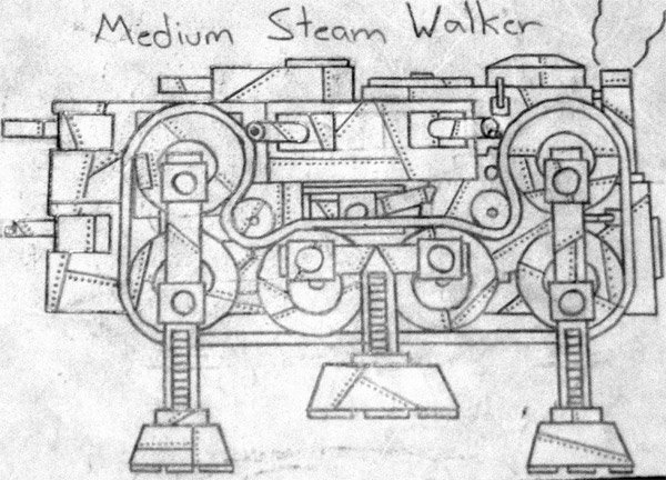 steam walker sketch by beau donnan
