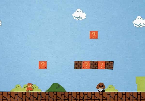 super mario bros paper stop motion by jeremiah warren