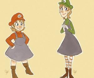 Super Mario (Maria?) Sisters
