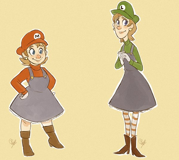 super mario sisters by beth t aka bluewolf487