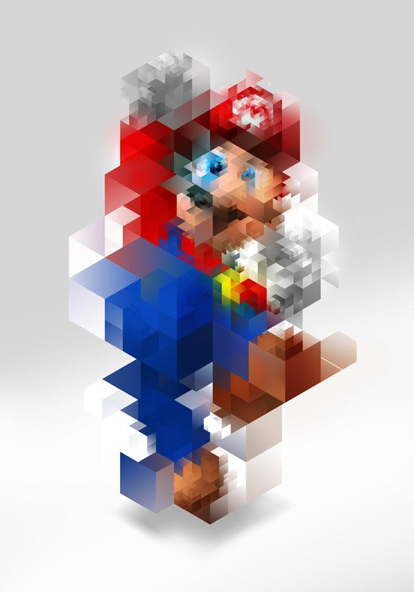 super mario abstract by nicola felaco 1
