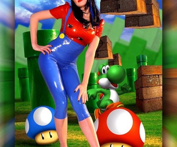 Super Mario Gets the Latex Rubber Treatment