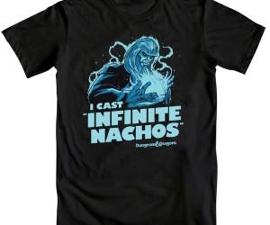 Wizard Infinite Nachos T-Shirt: Roll for Salsa