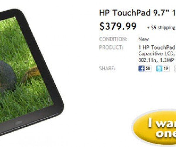 Woot Offers HP TouchPad Tablet for a Steal