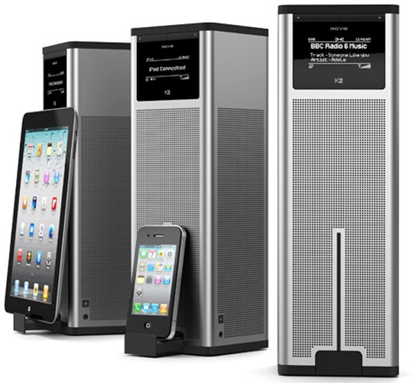 revo digital radio tower k2 speaker dock iphone ipad