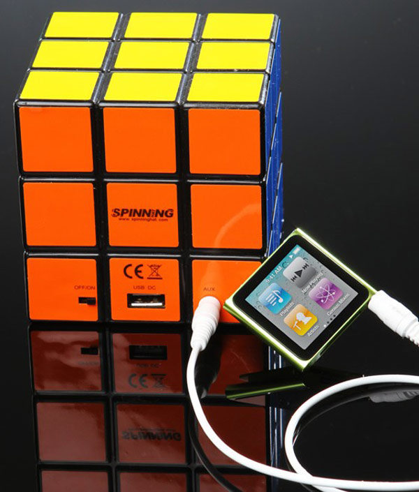 rubik cube speaker usb portable mobile music audio