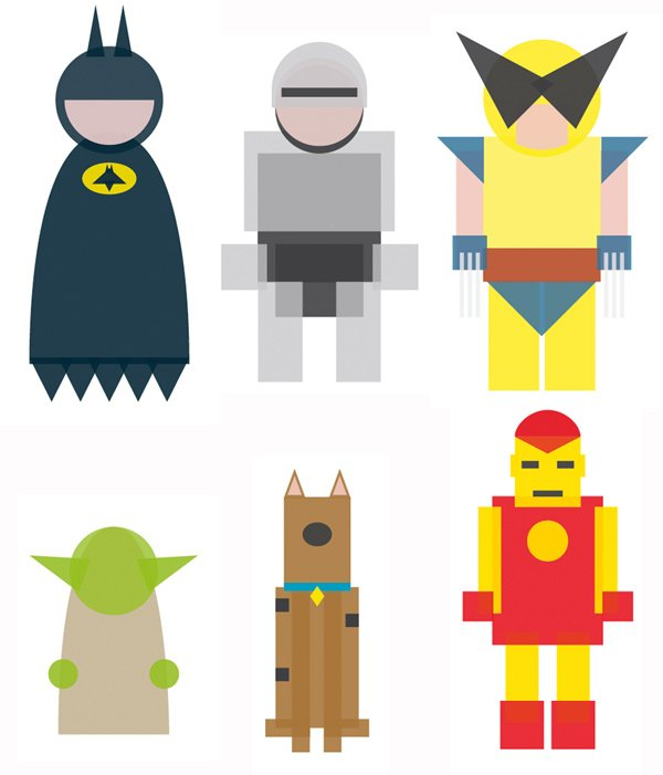 Character Design Basic Shapes : Bare essentials characters get minimal still