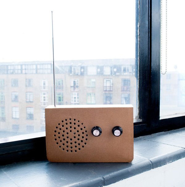 suck uk radio cardboard christopher mcnicholl recyclable