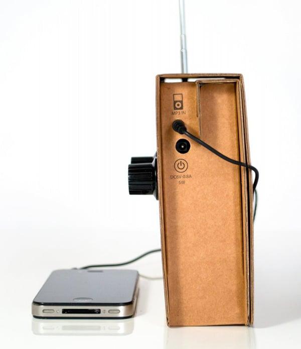 suck uk radio cardboard christopher mcnicholl recyclable