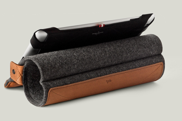 hard graft ipad case felt natural handmade