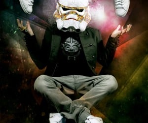 Stormtrooper Helmet Made from adidas Sneakers
