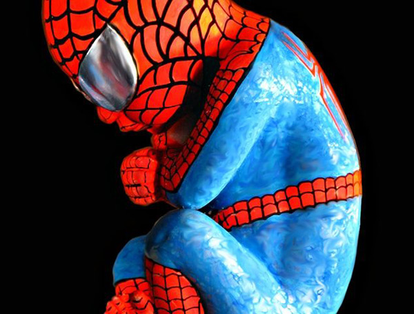 alexandre nicolas superhero fetus superman batman spiderman