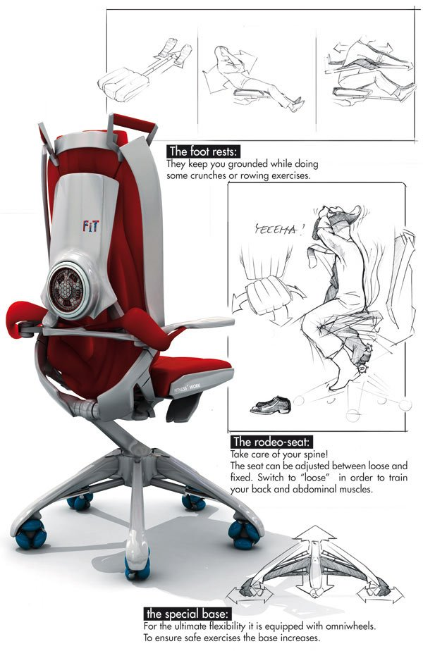 benjamin cselley fit at work fitness exercise chair office