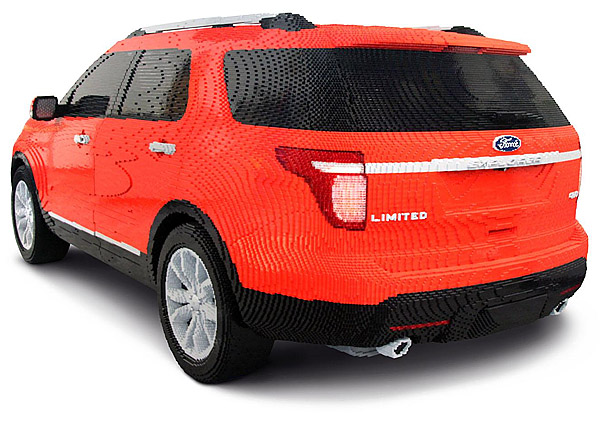 lego ford explorer made from over 382 000 bricks technabob. Black Bedroom Furniture Sets. Home Design Ideas