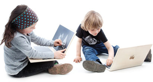 i-wood laptop wooden chalkboard kids toddlers fun