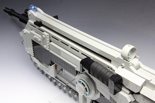Lego Gears Of War Lancer Rubber Band Assault Rifle No You