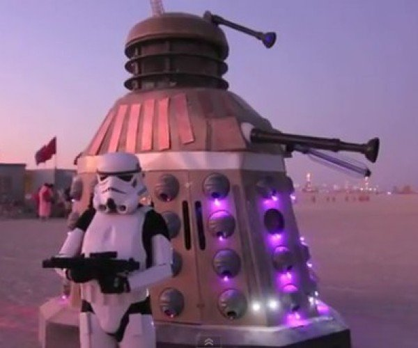 Huge Dalek Invades Burning Man, Teams Up with Stormtrooper