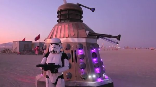 Dalek invades burning man