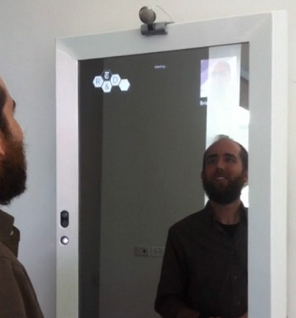 Kinect Sensor Mirror For Bathroom