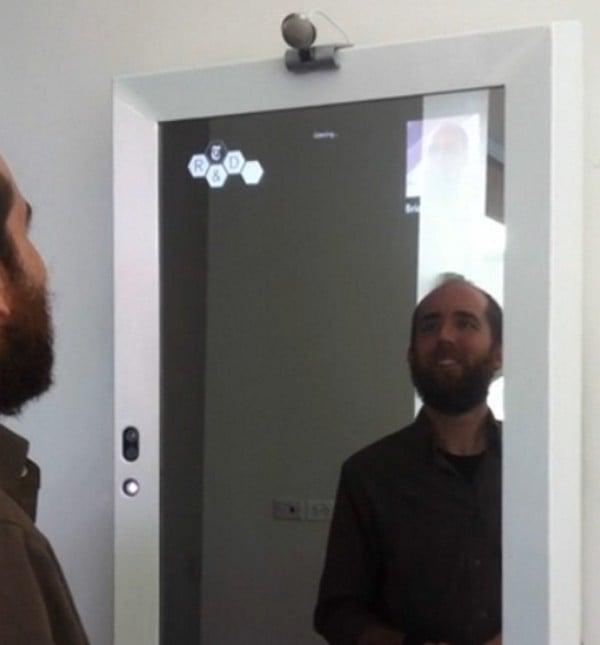 Kinect Sensor Mirror For Bathroom