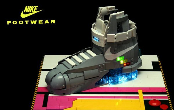 17cb4fddf603 Orion Pax created his own LEGO version and then showed them off on his  Flickr page. You might remember that the 1500 real Pairs of Nike Air Mag  Shoes were ...