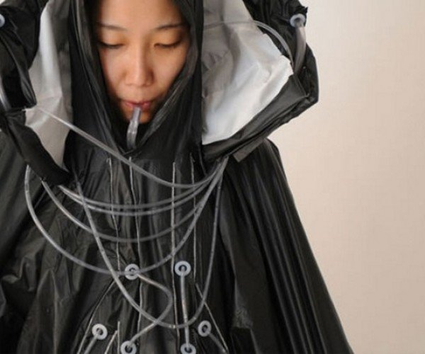 The Raincatch Raincoat Turns Rainwater to Drinking Water As You Go