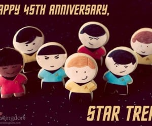 Happy Birthday Star Trek, Celebrate with Enterprise Crew Cookies