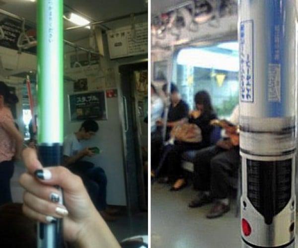 Tokyo Subway Gets Lightsaber Handrails