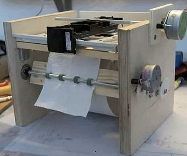 Toilet Paper Printer, Surprisingly Not Called a Wipe-jet