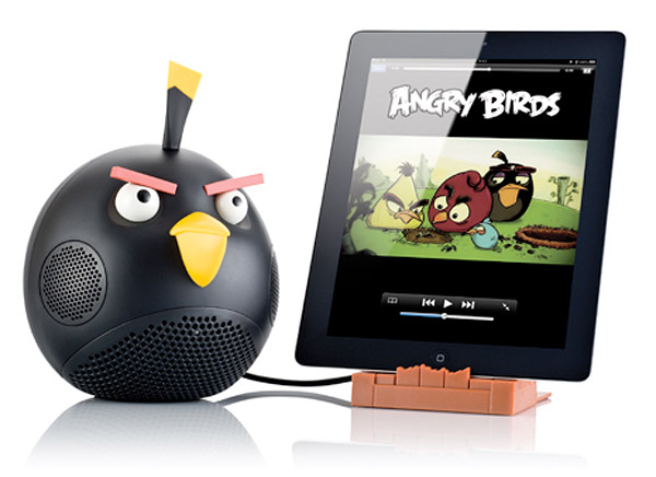 angry birds speaker black bird