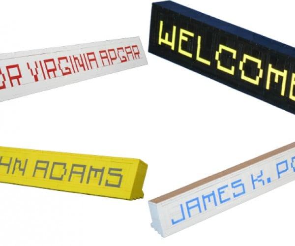Brick-Built Nameplates: Assemble Your Name with LEGOs
