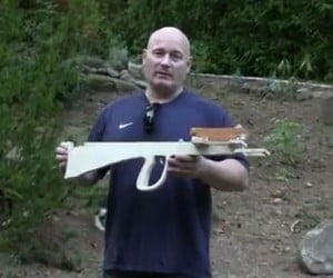 Bullpup Slingshot Crossbow Deals Big Damage in a Small Package