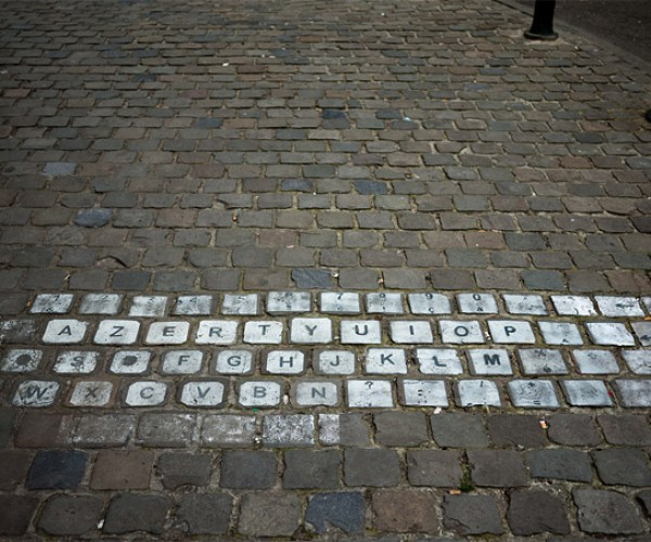 Cobblestone Keyboard: Toe-Touch-Typing