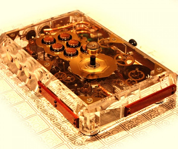 custom steampunk fight stick by sam kurd aka b15sdm designs 4