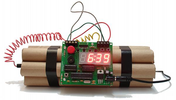defusable clock by michael krumpus