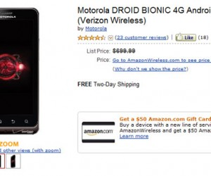 Amazon Offers Droid Bionic Smartphone for a Steal