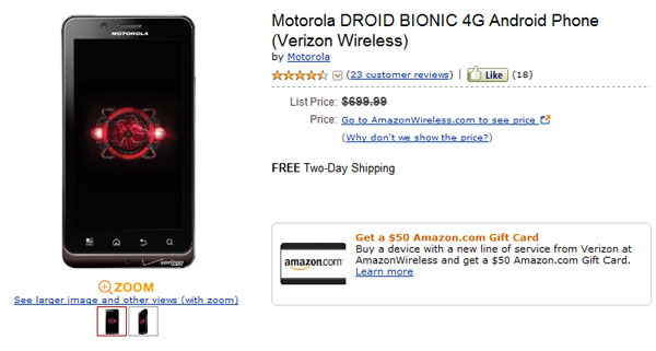 droid bionic tb
