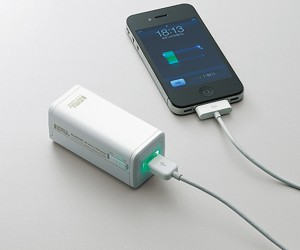 Elecom Battery Charger: 4 AA = 1 iPhone Battery