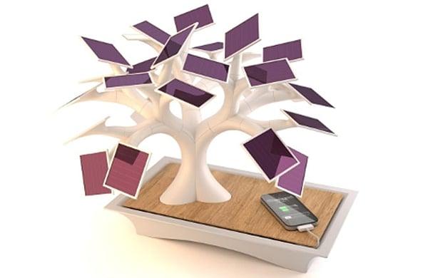 electree solar bonsai charger by vivien muller