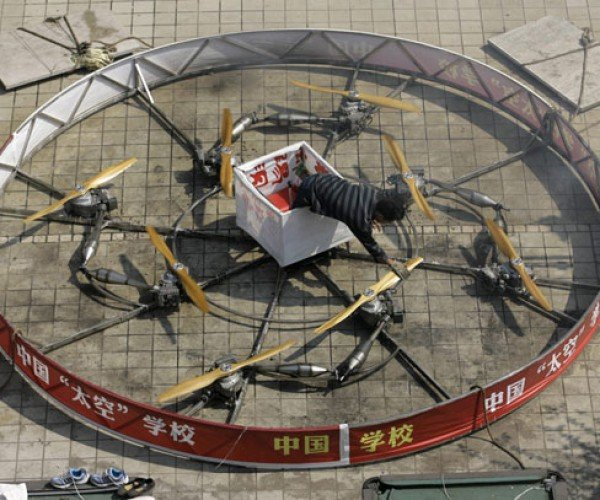 Chinese Man Builds Flying Circle of Death