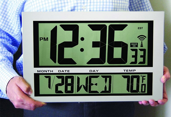 Giant Digital Atomic Wall Clock and Thermometer You Wont Have
