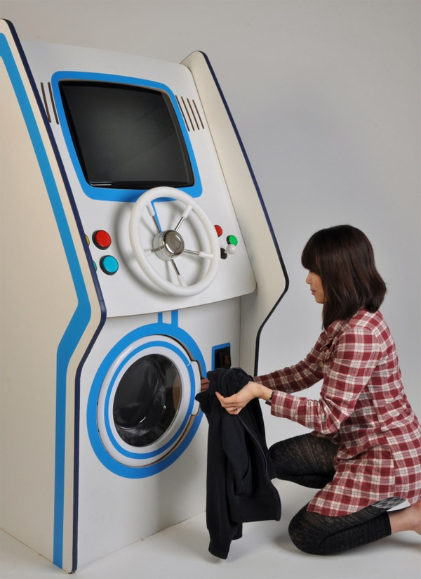 Laundry arcade concept gives gamers a good reason to wash their clothes tec - Machine a laver du futur ...