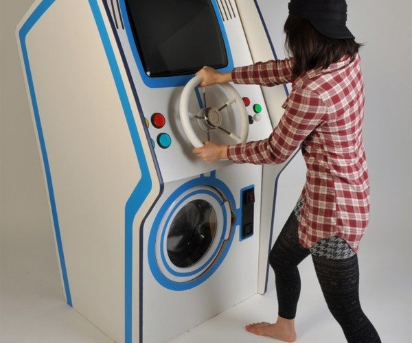 Laundry Arcade Concept Gives Gamers a Good Reason to Wash Their Clothes