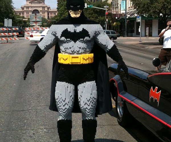 13-Year-Old Sculpts Life-Size LEGO Batman