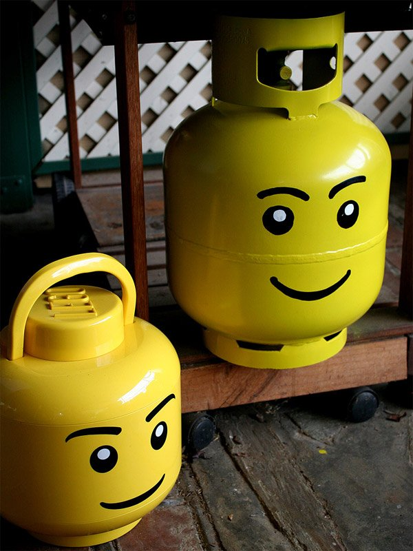 lego head propane containers