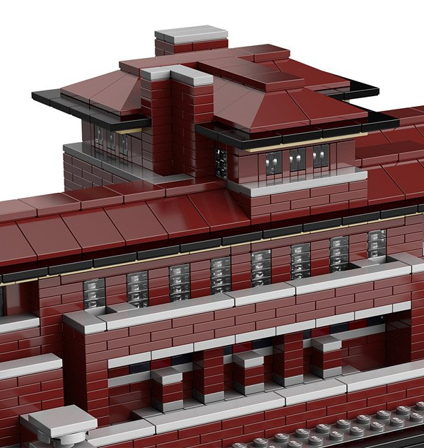 Frank Lloyd Wright 39 S Famous Robie House Gets Lego