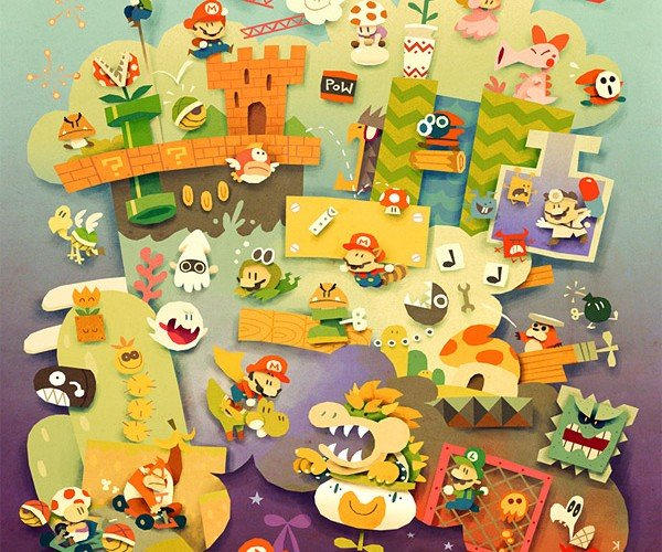 Mario Dreams Fan Art is Positively Dreamy