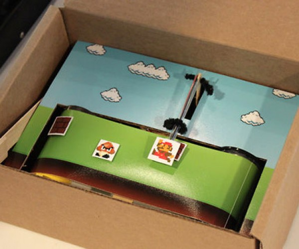Mario in a Box Runs the Wrong Way Through the Mushroom Kingdom