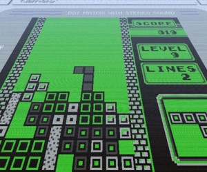 Minecraft Meets Game Boy Tetris