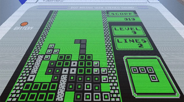 minecraft game boy tetris